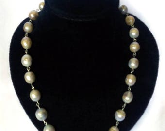 Jewelry Pearls necklace Giant Raw pearl Necklaces