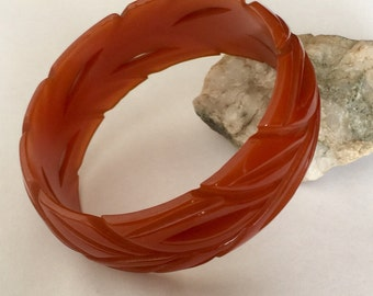 Bakelite Bangle, Dark Butterscotch