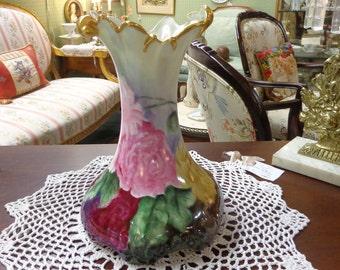 Hand Painted J.P.L. Limoges France Vase / J Pouyat  Limoges Vase / Hand Painted Limoges