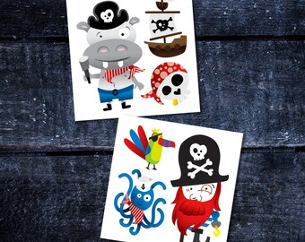 Temporary Tattoos - Pirates