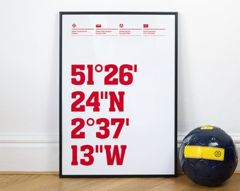 Bristol City Football Stadium Coordinates Posters