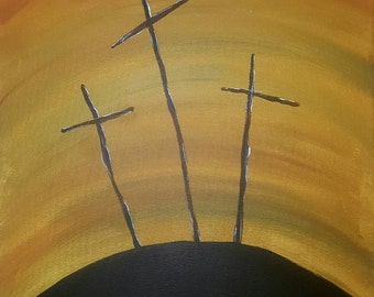 Remember the Cross 16x20 acrylic on canvas