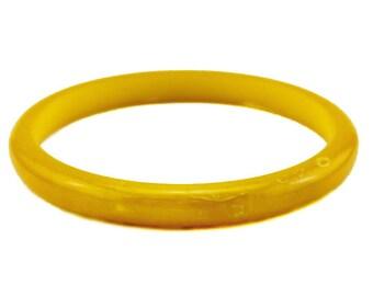 Yellow Bakelite Bangle Bracelet, Pineapple Bakelite Bangle Bracelet, Lemon Bakelite Bangle Bracelet
