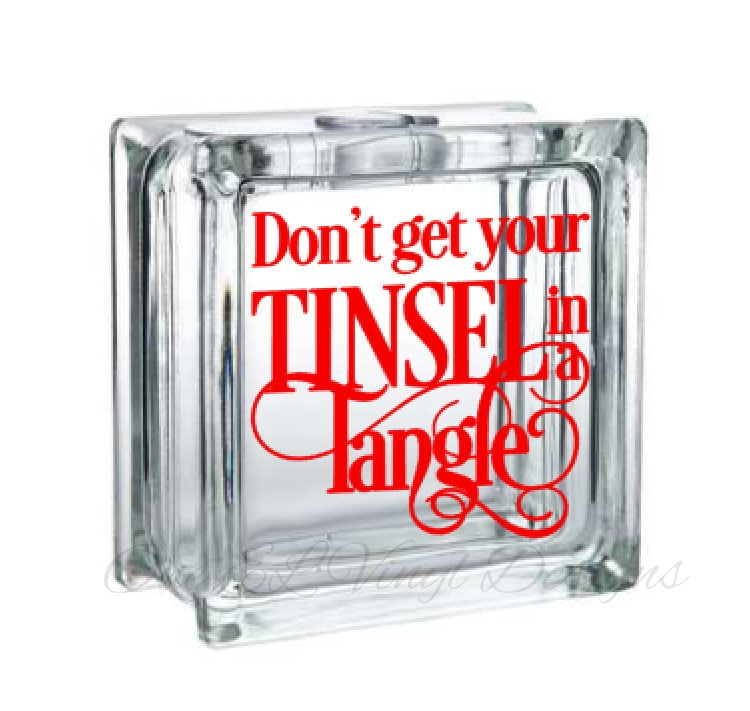 Start with a Decal on your glass block and decorate it up for some holiday fun decor.