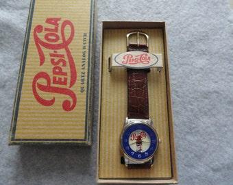Pepsi Cola Quartz Watch with the Original Box