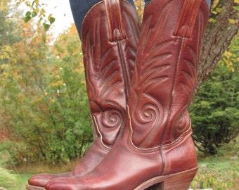 FRYE Cowboy Boots Mens 8 D or Ladies 9 - 9.5