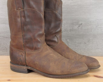 Justin Rustic Leather Cowboy boots 9.5 EE