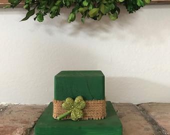 St. Patricks day wooden hat, St. Patty's day, gift , shamrock