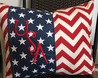 red white blue pillow cover 16 x 20 inch usa pillow cover lumbar pillow cover america pillow cover july 4th pillow cover flag pillow cover - Americana Home Decor