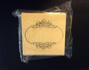 Fancy Frame Rubber Stamp
