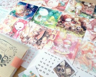 SALES: 2017 Pocket Calendar - 13 mini cards to collect !