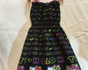 Hello Kitty Dress, summer dress, spring, party dress, kitty glasses, nerd kitty