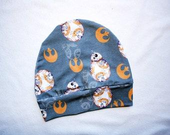 Star Wars BB8 Beanie Hat 3T 4T Toddler Star Wars Beanie Hat Infant Star Wars BB8 Beanie Hat Kids Star Wars Hat Toddler BB-8 Droid Hat