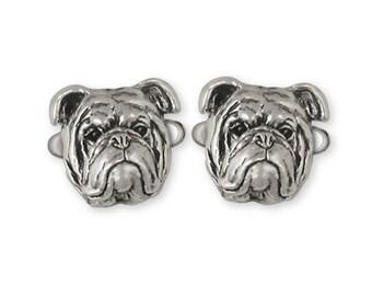 Bulldog Cufflinks Jewelry Sterling Silver Handmade Dog Cufflinks BD18-CL