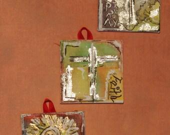 3 mini paintings - Christian Art