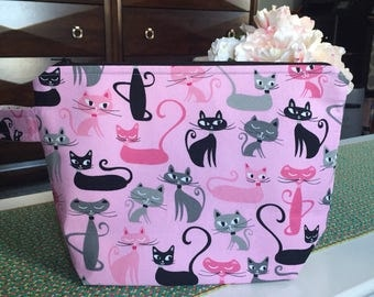 SALE! Kittycat Project Bag- large