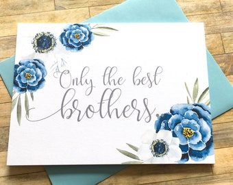 Pregnancy Announcement - Only the Best Brothers get promoted to Uncle Reveal - New Uncle Announcement - Navy Floral Announcement - INDIGO