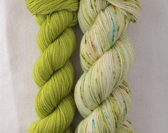 Hand-dyed yarn - sock yarn - superwash - merino - dyed-to-order - bundle SUPER CHAUSSETTE ANIS
