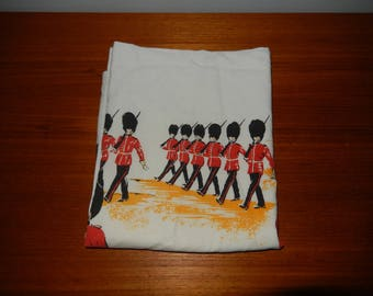 Vintage Pillowcase with Images of Red-Coated Soldiers or Guards