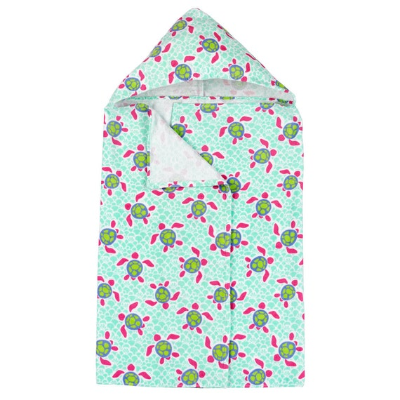 Girls Hooded turtle towel hooded towel monogrammed hooded towel summer towel