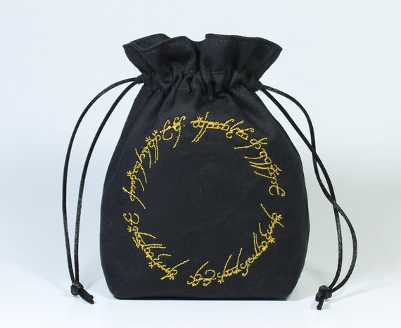 SALE One Ring Drawstring Bag, Dice Bag
