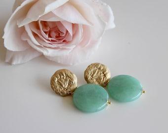 Amazzonite earrings
