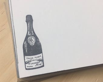 vintage champagne note cards, vintage inspired stationery set, grand marque champagne, stationery