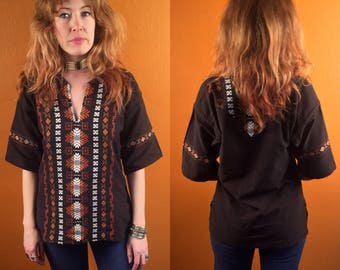 Vintage embroidered tribal tunic