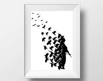 Street Art Banksy poster print