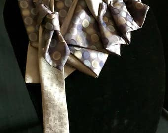 Tie Couture: Purples Purpose Polka Dots #101