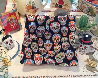 Microwaveable Bowl Cozy Dia de Los Muertos Print
