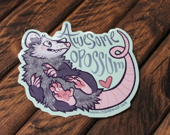 Awesome Opossum Sticker