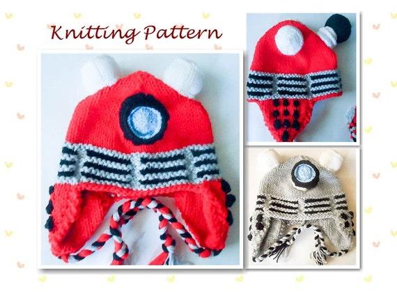 Free Knitting Pattern Dalek Hat : Knitting Pattern Robot hat Dalek Hat dr who character hat