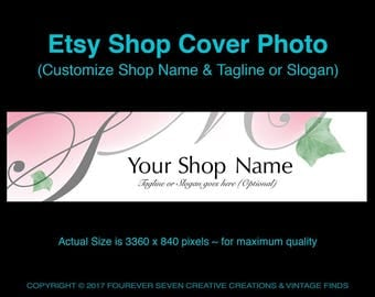 Etsy Cover Photo Etsy Banner Shop Banner Etsy Graphics Cover Design Premade Banner Store Graphics Weddings Nature Word Art Arts Digital File