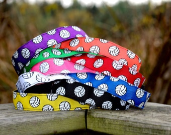 Womens Sport Volleyball Headband - Volleyball Team Headbands for Girls -  Choice of Size & Color - Athletic Headband Adult Volleyball Gifts