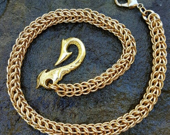Solid Brass Wallet Chain