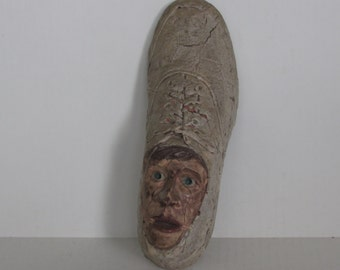 Original artwork 1960's ceramic man-in-shoe