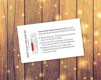 Rodan Fiels Business Card-sized Foaming Sunless Tanner Tip Card