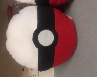 Pokemon Pokeball fleece pillow - soft and huggable!