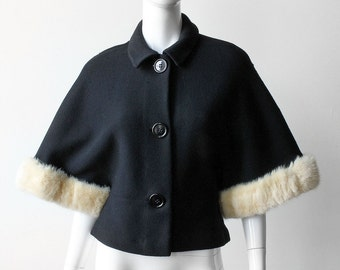 Vintage 1950s Lilllie Rubin Wool and Mink Party Jacket