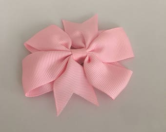 LIGHT PINK Bow Hair Clip