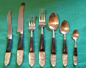 Siam flatware etsy - Thai silverware ...