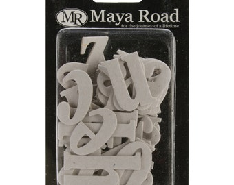 Maya Road Chipboard Lower Case Letters