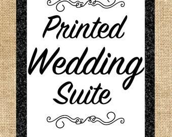 Printed Wedding Suite Invitations
