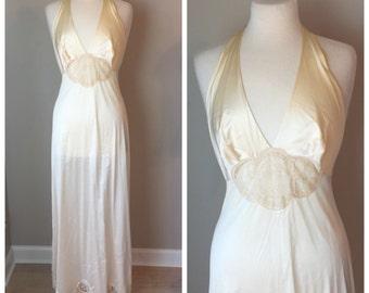 Vintage Vanity Fair Halter Nightgown