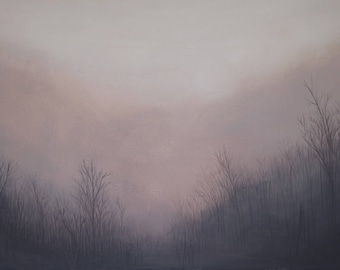 Original // Gouache // Painting // Wall Art // Trees // Landscape // Ethereal // Atmospheric // Haunting // Home Decor // Fine Art