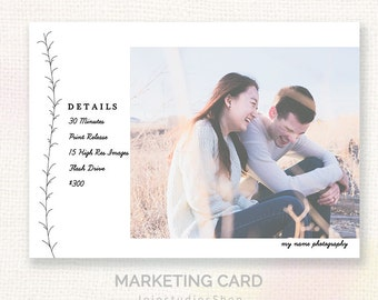 Mini Session For Photographers - Modern Clean Design - Instant Download Marketing Template - Layered PSD c133