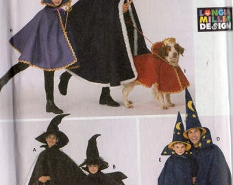 Simplicity Costume Pattern 5392 Adult/Child HALLOWEEN CAPES & DOG Costumes