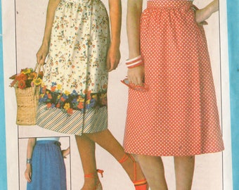 VINTAGE 1978 JIFFY Pattern 8336 Front Wrap SKIRT Misses 6-8