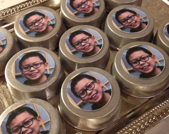 "12 ""YOUR PHOTO"" chocolate covered OREO cookies, any image, custom photo OREOs"